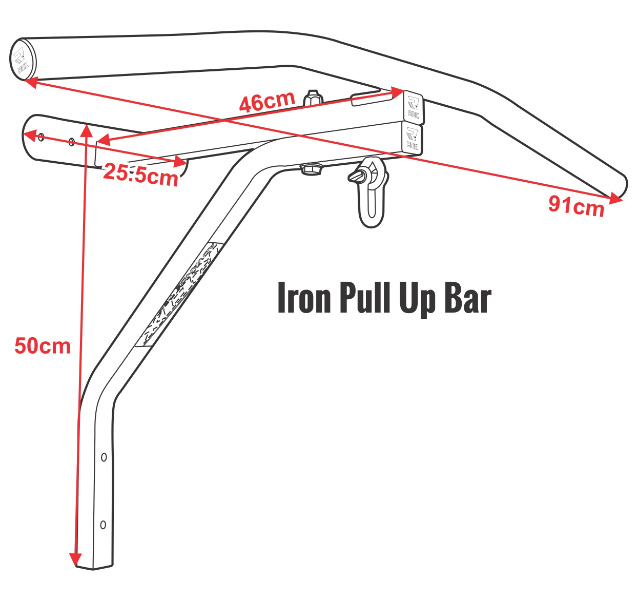 Iron Pull Up Bar Reg Black Heavy